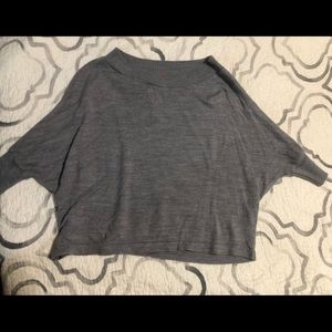 Gray Sweater material over sized shirt